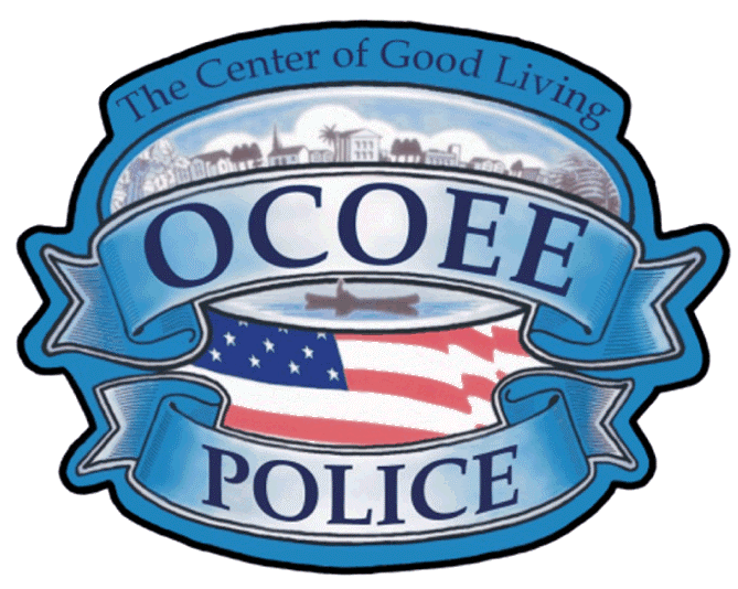 Ocoee Police Badge for the CACOPD meeting
