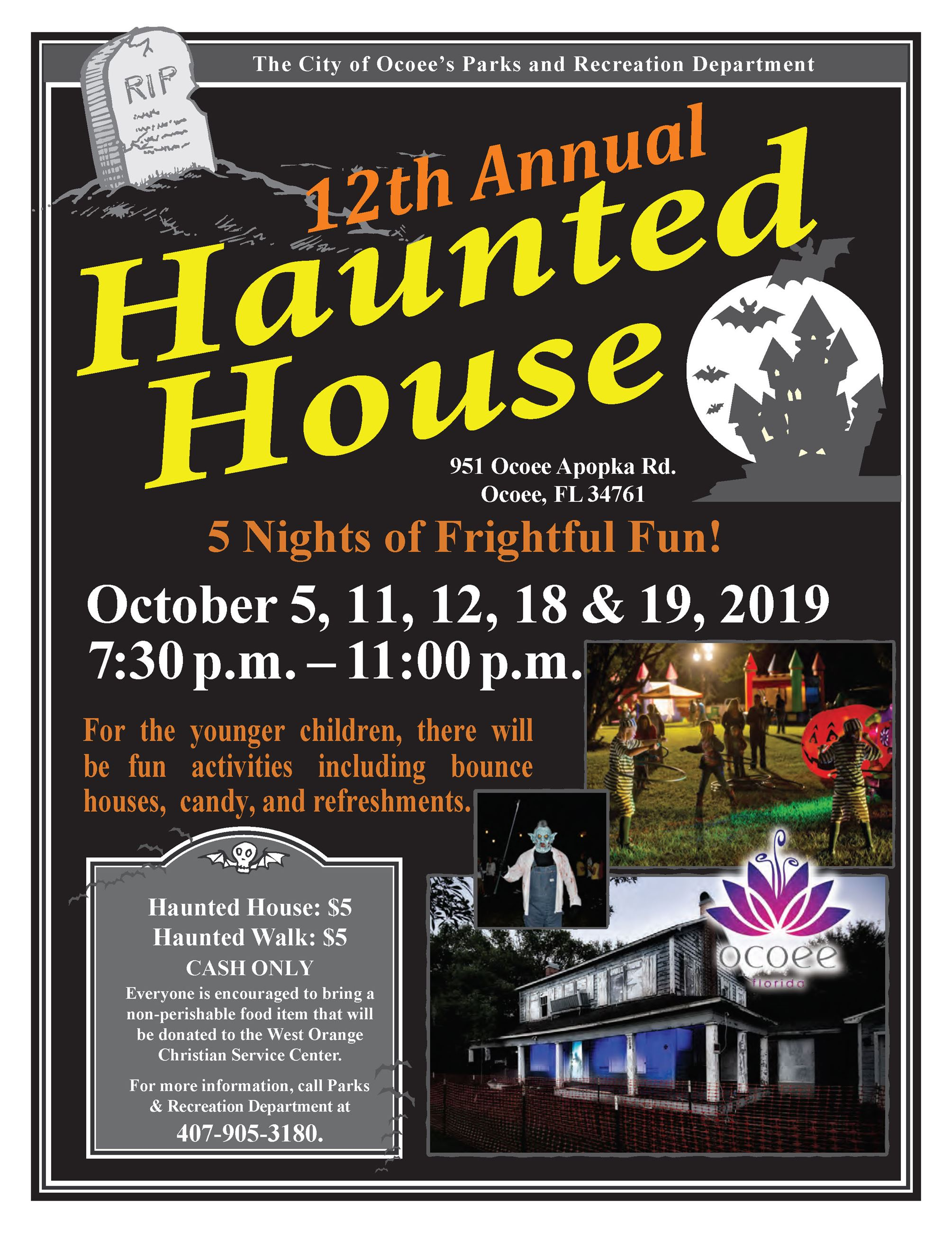 Haunted House flyer 2019