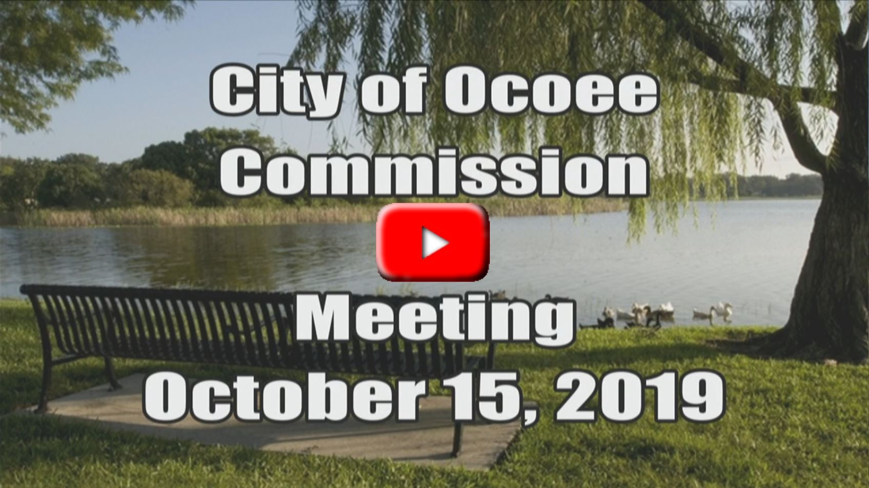 City Commission Meeting Recorded on 10_15_19
