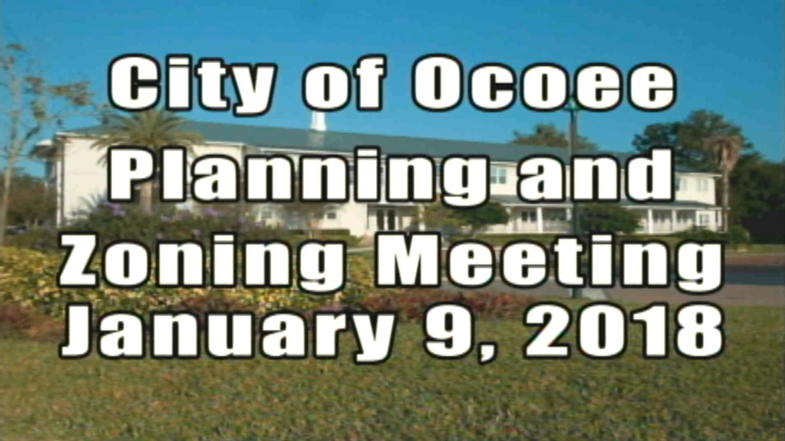 Planning & Zoning Meeting 1.9.18 Banner