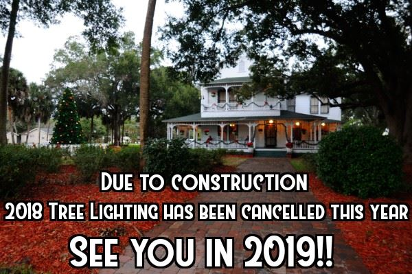 2018 Holiday Tree Lighting Cancelled