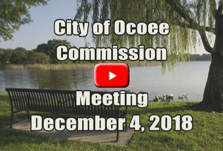 City Commission Meeting Banner for 12.04.18